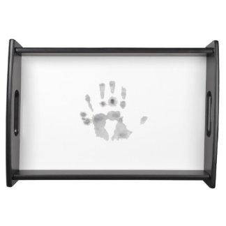 Touching hand tray