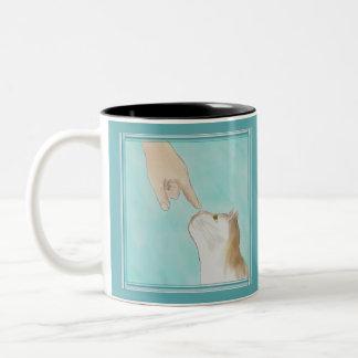 Touching Kitty's Nose Mug