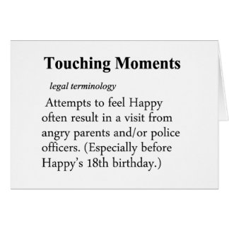 Touching Moment Definition Card