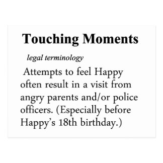 Touching Moment Definition Postcard