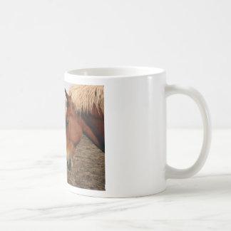 Touching noses classic white coffee mug
