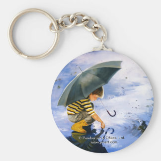 Touching the Sky Basic Round Button Keychain