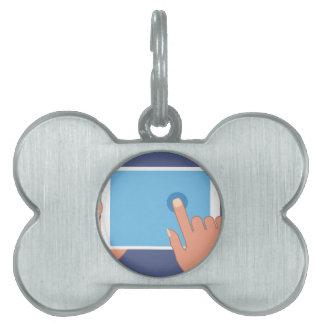 Touchscreen pad pet name tag