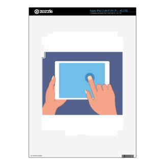 Touchscreen pad skin for iPad 3