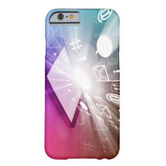 Touchscreen Smart Phone Downloading Apps and Cloud Barely There iPhone 6 Case