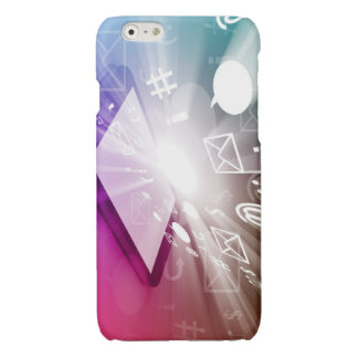 Touchscreen Smart Phone Downloading Apps and Cloud Glossy iPhone 6 Case