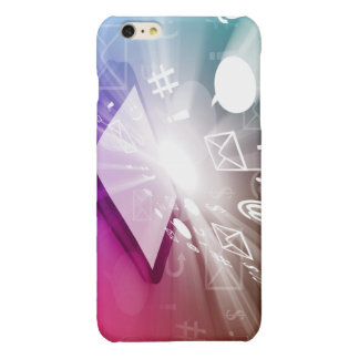 Touchscreen Smart Phone Downloading Apps and Cloud Glossy iPhone 6 Plus Case