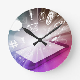 Touchscreen Smart Phone Downloading Apps and Cloud Round Clock