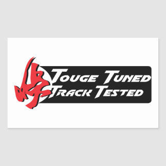 Touge Tuned Track Tested Rectangle Stickers