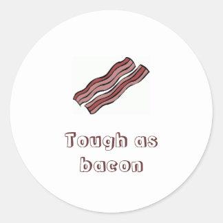 Tough as bacon classic round sticker
