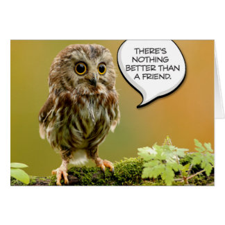 """Tough Baby Owl"" Friendship Card"