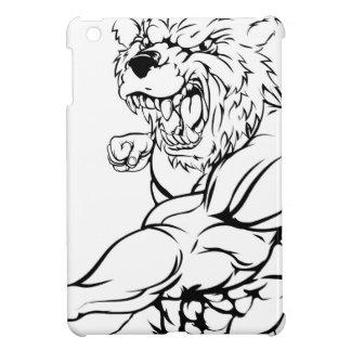 Tough bear mascot attacking case for the iPad mini