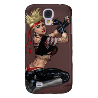 Tough Blond Punk Girl - Ready To Fight by Al Rio Samsung Galaxy S4 Cover