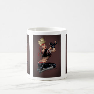 Tough Blond Punk Girl - Ready To Fight by Al Rio Coffee Mug