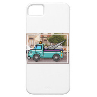Tough Blue Tow Truck in the Street iPhone SE/5/5s Case