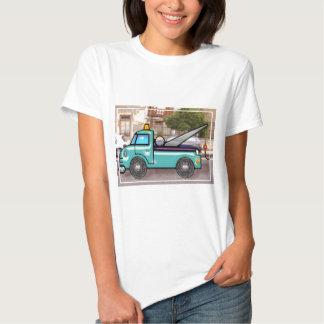 Tough Blue Tow Truck in the Street Tee Shirt