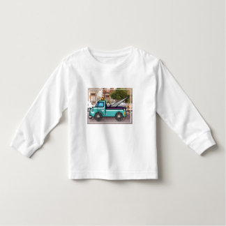 Tough Blue Tow Truck in the Street Toddler T-shirt