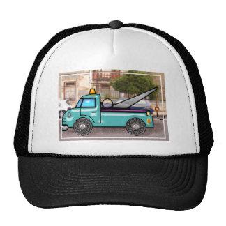 Tough Blue Tow Truck in the Street Trucker Hat
