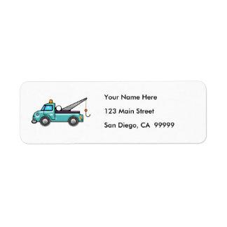 Tough Blue Tow Truck Label