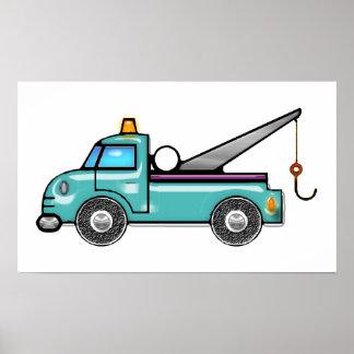 Tough Blue Tow Truck Poster
