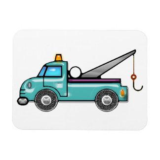 Tough Blue Tow Truck Rectangular Photo Magnet