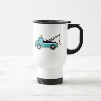 Tough Blue Tow Truck Travel Mug