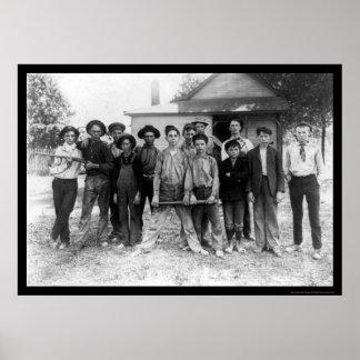 Tough Boy Baseball Team 1908 Posters