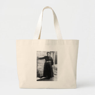 Tough Broad in Texas early 1900s Canvas Bags