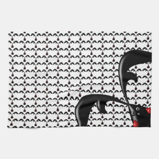 TOUGH BUNNY White- Cute Funny Boxer Rabbits Custom Towel