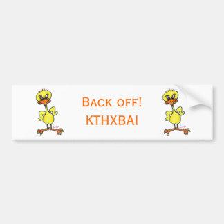Tough Chick Back Off Bumper Sticker Car Bumper Sticker