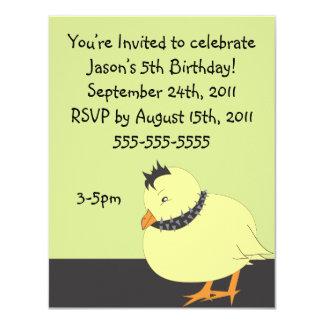 Tough Chick Birthday Invitation