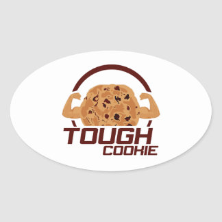 Tough Cookie Oval Sticker