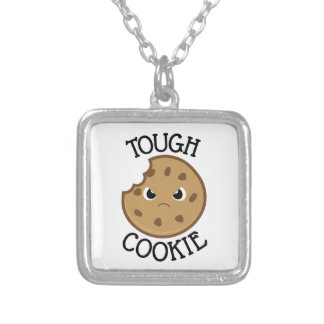 Tough Cookie Silver Plated Necklace