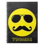 Tough Cop Smiley - Customizable! Spiral Notebook