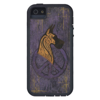 Tough Extreme I-Phone 5 Case W Brindle Dane Case For iPhone 5