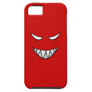 Tough Grinning Face With Evil Eyes Red iPhone SE/5/5s Case