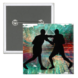 Tough & Gritty Boxing in the Ring 2 Inch Square Button