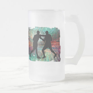 Tough & Gritty Boxing in the Ring Frosted Glass Beer Mug