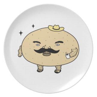 Tough Guy Macho Potato Dinner Plate