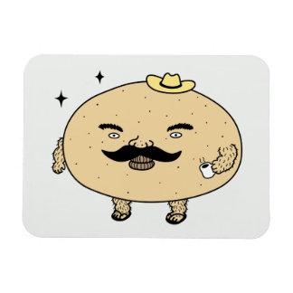 Tough Guy Macho Potato Rectangular Photo Magnet