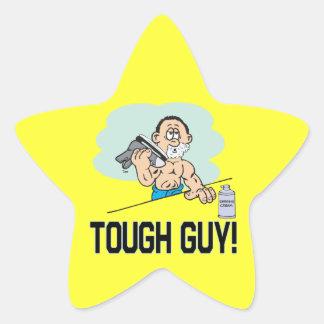 Tough Guy Star Sticker