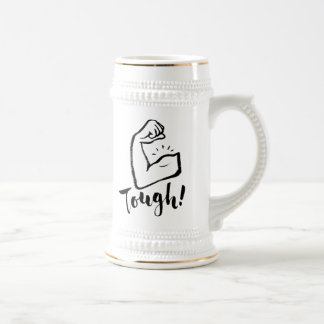 Tough - Hand Lettering Typography Design Beer Stein
