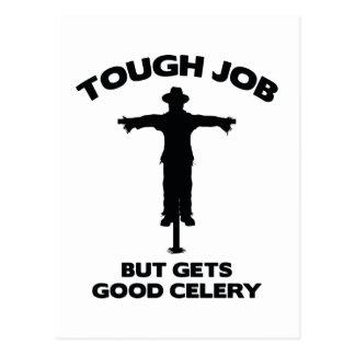 Tough Job But Gets Good Celery Postcard
