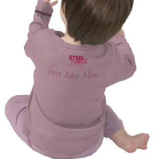 TOUGH Just Like Mom Steel N Heels Baby Shirt