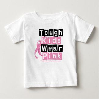 Tough Kids Wear Pink For Breast Cancer Awareness Tee Shirt
