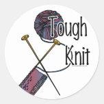 Tough Knit Round Sticker