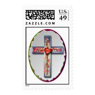 """Tough Love"" - Cross Artwork Series Postage Stamps"