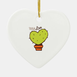 Tough Love Double-Sided Heart Ceramic Christmas Ornament