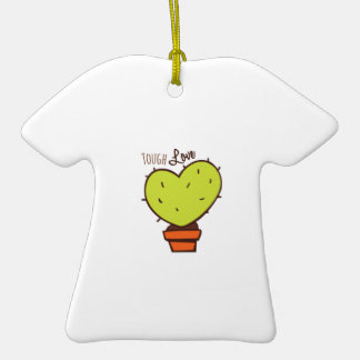 Tough Love Double-Sided T-Shirt Ceramic Christmas Ornament