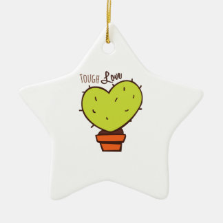 Tough Love Double-Sided Star Ceramic Christmas Ornament